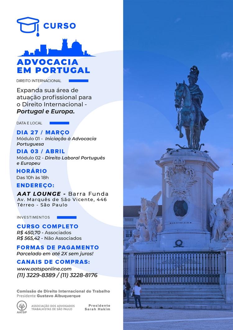 Curso Advocacia Em Portugal Aatsp